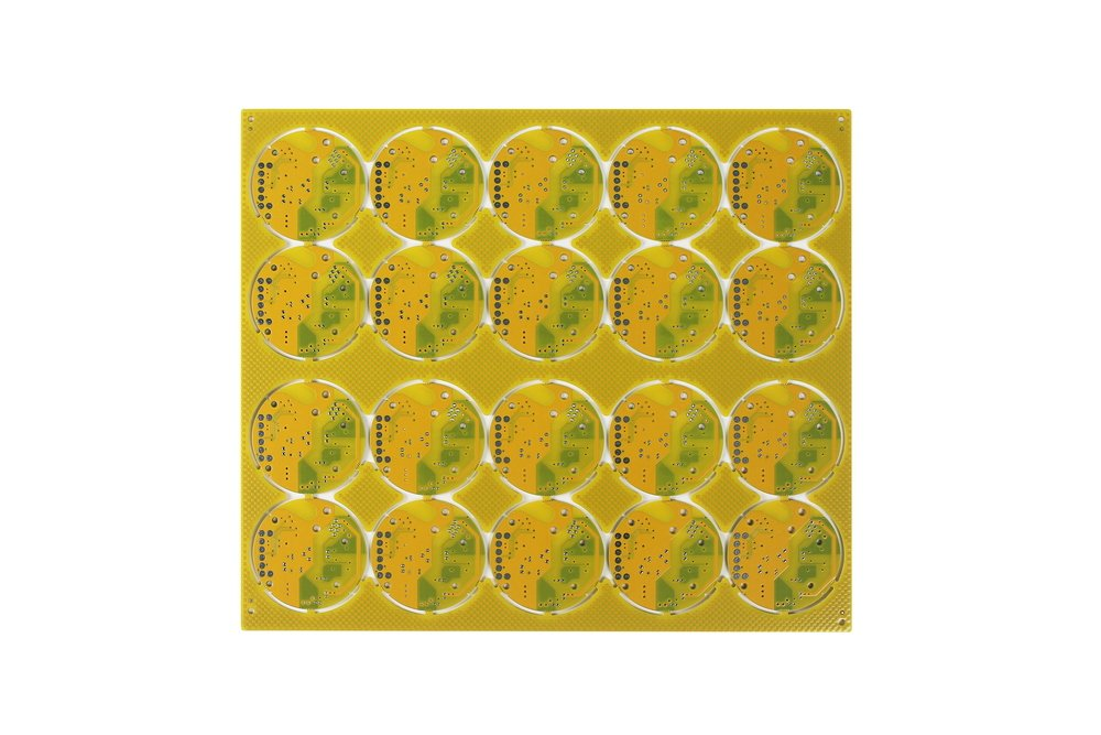 2 Layer Yellow PCB Board with 1oz Finished Copper Thickness